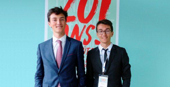 Lukas Huberty et Hugo Sallé à l'Université d'été du MEDEF