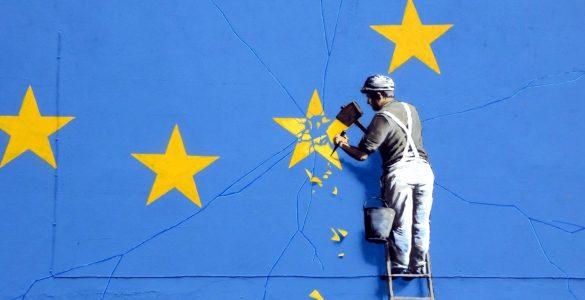 Détail d'une fresque de Banksy